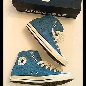 Converse hightop mens9 women's 11 Egyptian blue